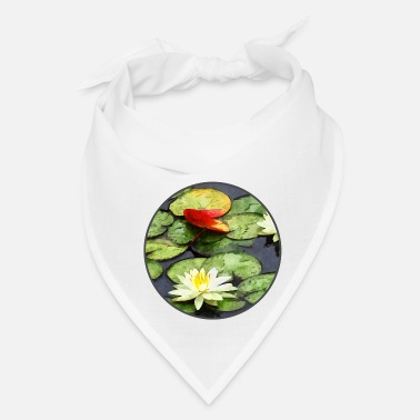Water Water Lily Pond in Autumn - Bandana