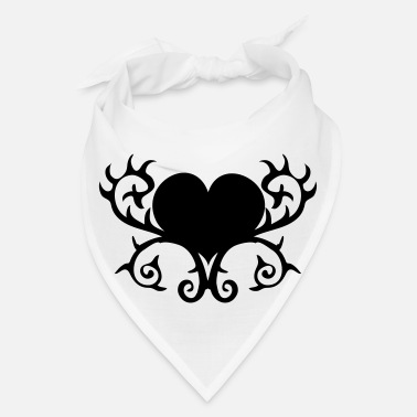 Strange GOTHIC heart with thorns shape - Bandana