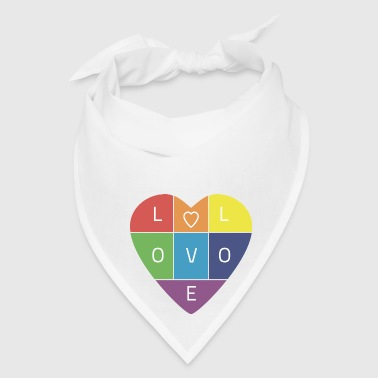 Rainbow Heart - Bandana