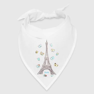 Paris Love Blue Butterflies - Bandana