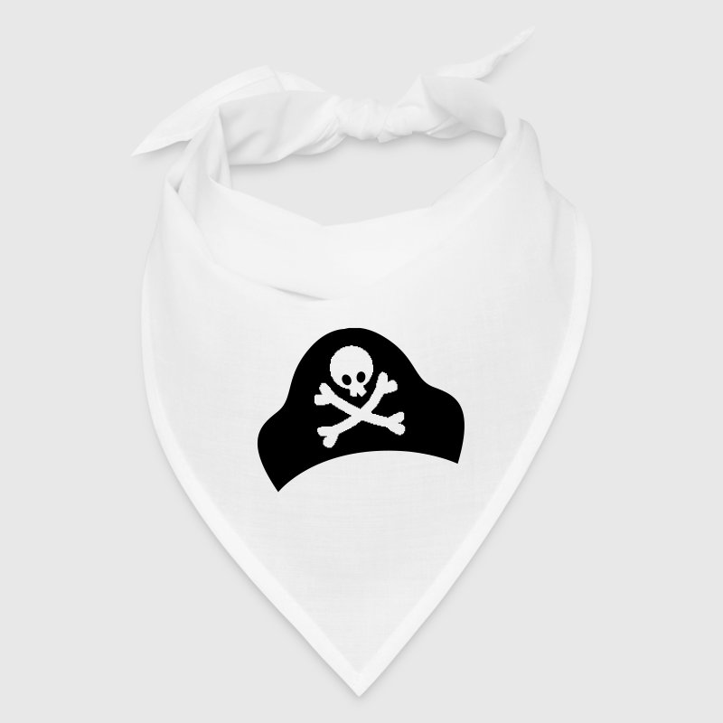 crossbones and skull on pirate hat good for Halloween - Bandana