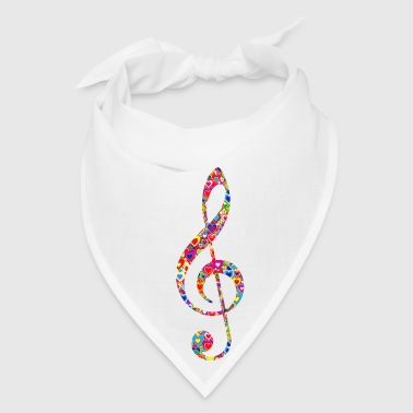 Treble-clef Heart Filled Treble Clef - Bandana