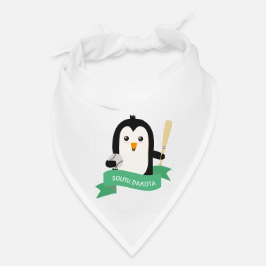 South Baseball Penguin from SOUTH DAKOTA  Sz9dg1 - Bandana
