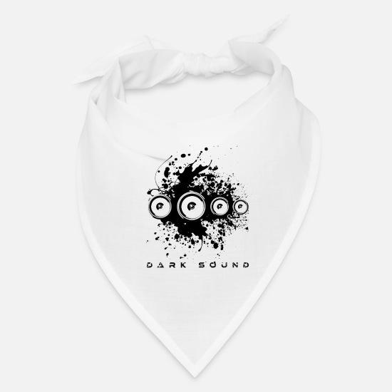 Dark Sound Deep Bass Techno Electronic Music EDM Bandana - white