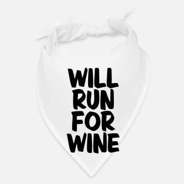 Sprinting WILL RUN FOR WINE - Bandana