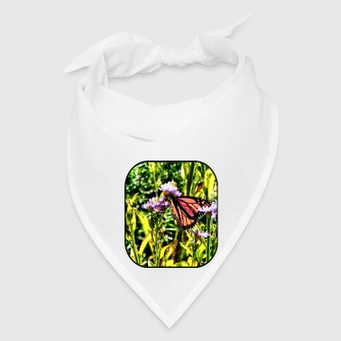 Monarch Butterfly on Purple Wildflower - Bandana