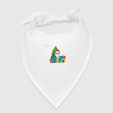 Christmas Panda with Presents - Bandana