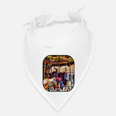 Zebra Merry Go Round With Elephants - Bandana