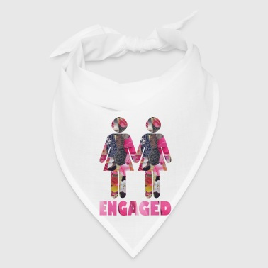 gayTS collage art ENGAGED WOMEN gay wedding pinkz - Bandana