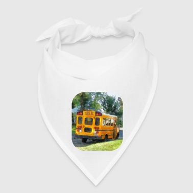 Parked School Bus - Bandana