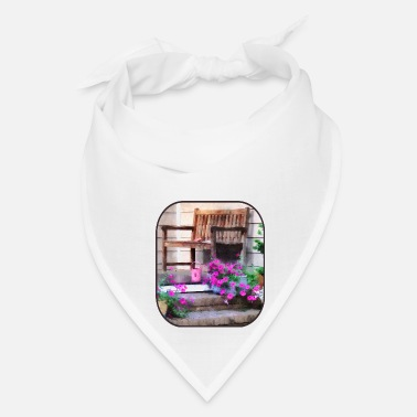 Trowel Pink Petunias and Watering Cans - Bandana