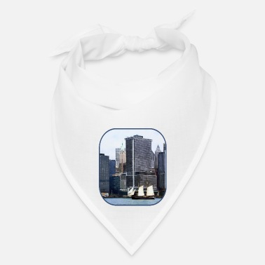 Against Boats - Schooner Against the Manhattan Skyline - Bandana