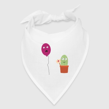 Cactus in love with balloon - Bandana