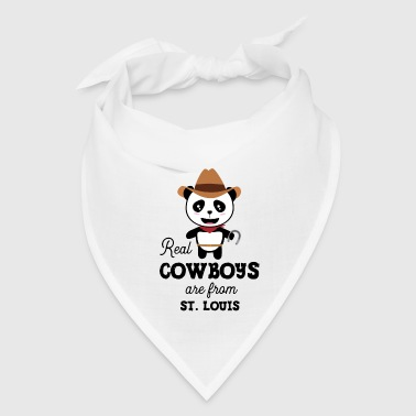 Real Cowboys are from St. Louis Gift - Bandana