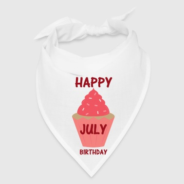 july birthday cupcake - Bandana