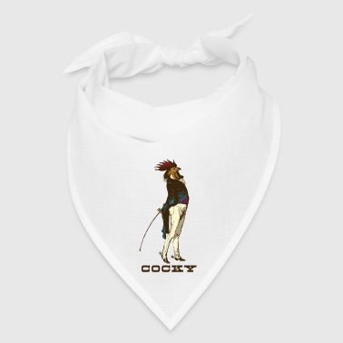 Cocky the Vintage Rooster Chicken - color - Bandana