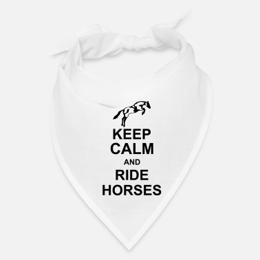 Saddle keep_calm_and_rider_horses_g1 - Bandana