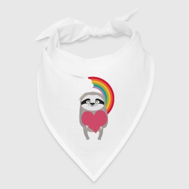 Rainbow Sloth with Heart Gift - Bandana