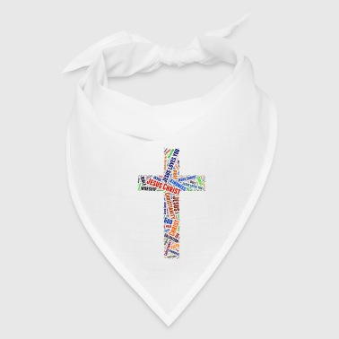 Christian Colorful word's Christian cross - Bandana