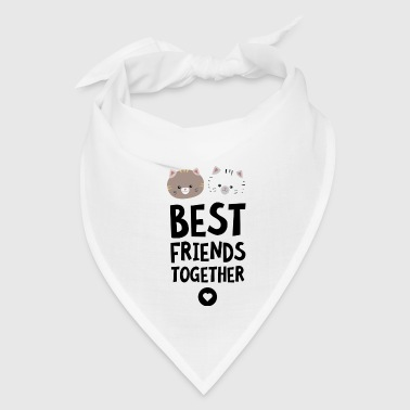 Best Friends Cats Best friends Heart - Bandana