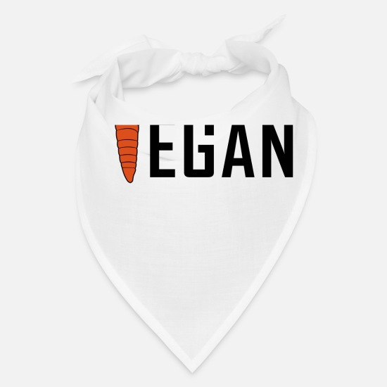 Gift Idea Caps - Vegan with carrot - Bandana white