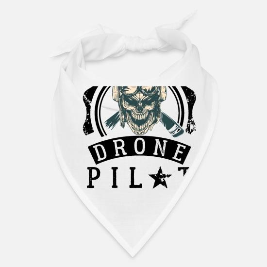 Drone Pilot Bandana - white