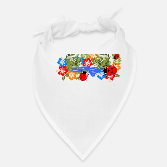 Flower Power Caps - Nature, Animals, Animal,Flowers,Flora,stylish,cool - Bandana white