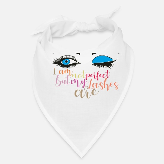 Lips Caps - I am not perfect but my lashes are, Makeup quote - Bandana white