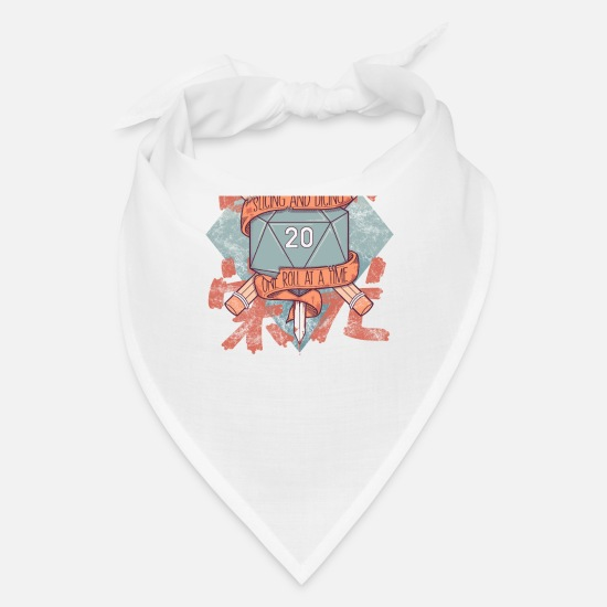 D20 Caps - Slicing and Dicing - DnD D&D - Bandana white