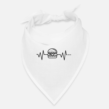 Diner Heartbeat - Burger, Fast Food, America, Cheese Ham - Bandana