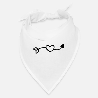 Lovely Love arrow - hand drawn comic style, falling in - Bandana