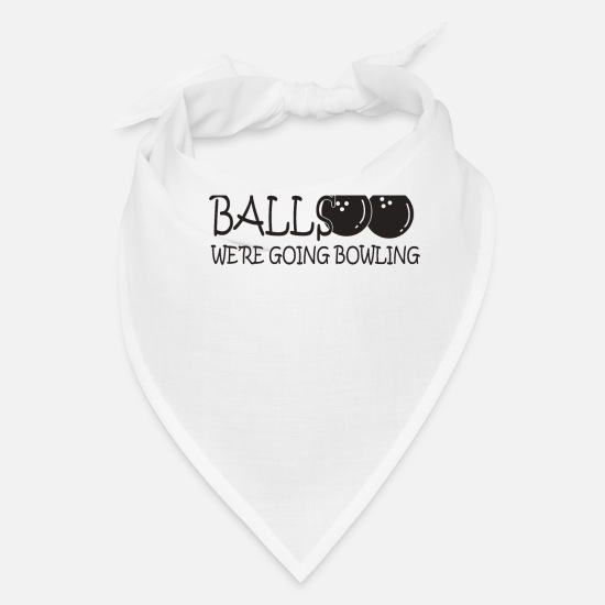 Hole Caps - Bowler Grab Your Balls - Bandana white