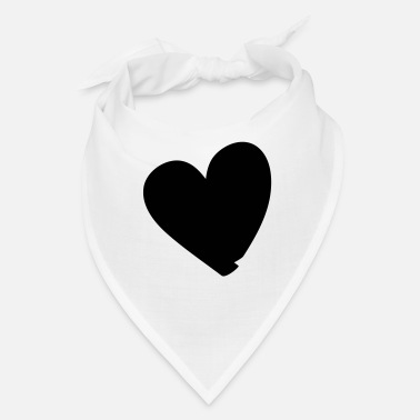 Lovely Hand drawn comic heart -love lover girlfriend cute - Bandana