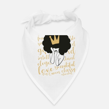Loc Love Strong Black woman with crown - Bandana