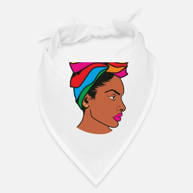 Loc Love Woman with afro and colorful headband - Bandana