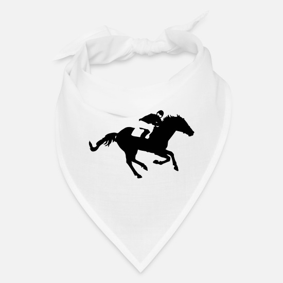 Horse Racing Caps - races - Bandana white