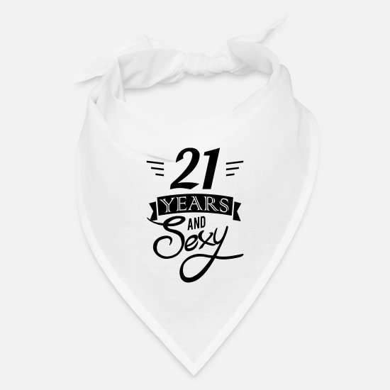 Birthday Caps - 21 years and sexy - Bandana white