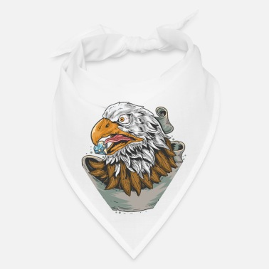 With Diamond eagle diamond, vintage eagle head with diamond - Bandana