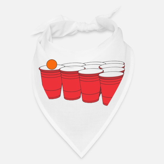 Beer Keg Caps - Beer Pong - Bandana white