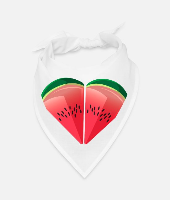 Friendship Bandanas - Watermelon Friendship - Bandana white