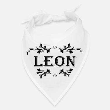 First Name First Name Leon boy guy male man gift idea - Bandana