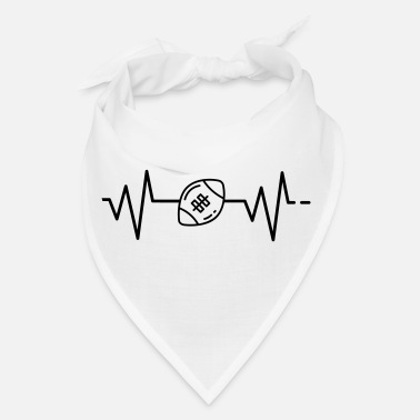 Rugby Quarterback Heartbeat - American Football, Rugby, quarterback - Bandana