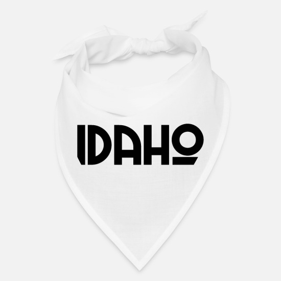 State Motto Caps - Idaho - Boise - US - State - United States - USA - Bandana white