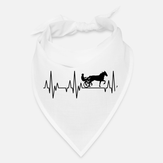 Racing Caps - Heartbeat Horses Riding Harness Racing Equitation - Bandana white