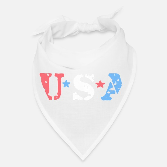 July Fourth Caps - 4TH JULY SPECIAL U S A - Bandana white