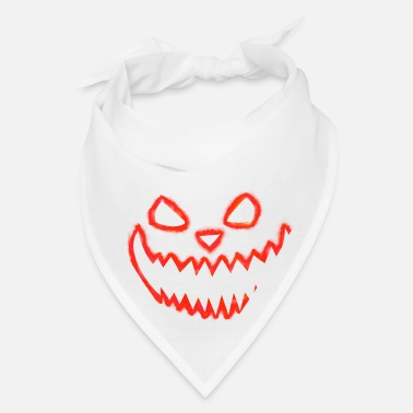 Trick Or Treat Halloween Gesicht Face 3 - Red - Bandana