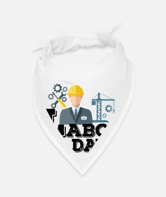Social Bandanas - Labor day labour day work employment gift idea - Bandana white
