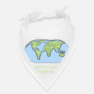 Map cat world map global australia gift shirt - Bandana