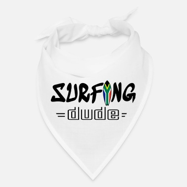 South Africa Surfing Dude black - Bandana