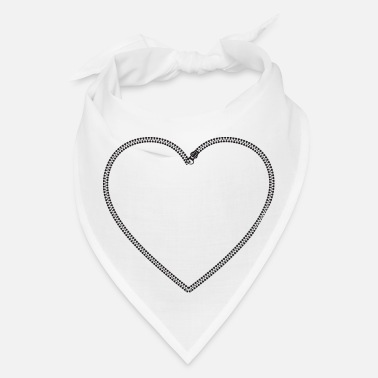 1234code Zipper Heart - Bandana